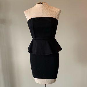 Alice + Olivia Black Strapless Dress